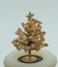 VINTAGE 14 KT SOLID GOLD CHARM CHRISTMAS TREE 3D CHARM PENDANT MOVABLE TIERS