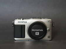 Olympus PEN E-PM2 16.1 MP M43 Camera Body Only Silver Excellent Cond. w/ Extra