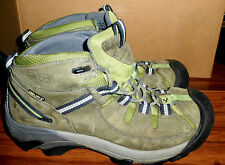 WOMENS KEEN DRY TARGHEE MID LEATHER ANKLE BOOTS HIKING TRAIL SIZE 9
