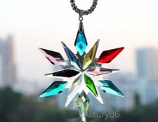 1pcs colorful snowflake crystal  Car vip Charms Chain for Rearview Mirror 17cm
