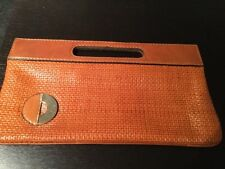 "Italian Leather  Clutch /Handbag ""Diva"" Colour Tan. 50 yrs plus old Immaculate"