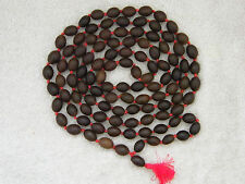 HIGH QUALITY DARK LOTUS WOOD CHANTING MEDITATION BEAD MALA 108 BEADS - LARGE