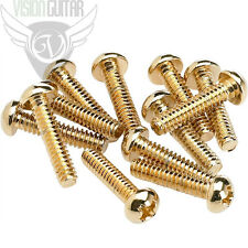 NEW! Fender Gold Pickup and Selector Switch Mounting Screws (12) 0994926000