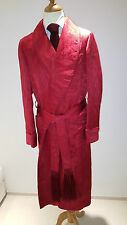 TOM FORD Robe ORNAMENT Bathrobe Dressing Gown 100% Silk RED SIZE M