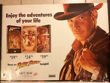 INDIANA JONES MOVIE POSTER. INDY PARTY, HARRISON FORD. RARE, ONLY 1 ON EBAY