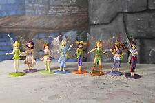 Disney Tinkerbell Fairy Princess PVC Cake Toppers Lot of 8 Fairies Rosetta Vidia