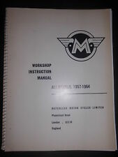 Matchless Motor Cycles Limited Workshop Instruction Manual All Models 1957-1964