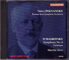 Valeri POLYANSKY: TCHAIKOVSKY Symphony No.6 Marche Slave CD CHANDOS 1995