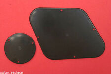 Tapas Traseras Les Paul Negras Black Back Plate Cavity Cover Switch & Pots Negra