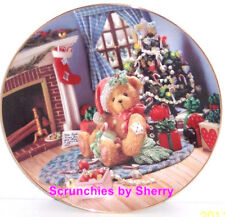 Cherished Teddies Happy Holidays Friend Plate Hamilton Teddy Bear Christmas