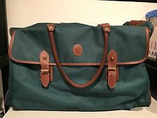 RALPH LAUREN POLO Classic Duffle Bag Weekender Green Travel Bag Gym Bag Rare!