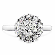 1.10Ct Diamond Engagement Rings 14kt  White Gold Size M Brilliant Round Cut