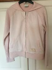 NEXT PINK STRETCH COTTON & RIBBED HOODED TOP SIZE 16