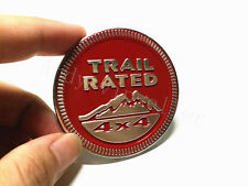 1Pcs For Jeep Wrangler Aluminum Red Trail Rated 4X4 Car Sticker Emblem Car Body