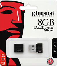 KINGSTON MINI PENDRIVE USB 2.0 8GB CHIAVETTA PENNA 8 GB CHIAVE FLASH