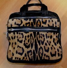 Alexander Wang Pony Hair Handbag Triple Compartment Tote Purse Satchel Large