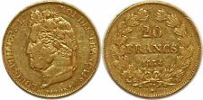 LOUIS PHILIPPE  20 FRANCS OR 1834 L BAYONNE  G.1031 PARIS GOLD