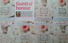 """""""de mariage 7 cartons de la conception de lesley Teare (A6) cross stitch chart"""