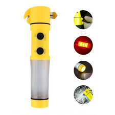 4-in-1 Car Emergency Life-Saving Escape Hammer Seatbelt Cutter LED Flashlight