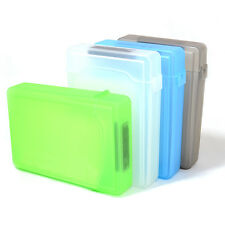 "1pc Plastic 3.5"" For Hard Drive IDE SATA Full Case Protector Storage Box Case"
