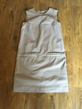 Cute Beige Cotton Shift Dress With Pockets From Cos Size 10..36 Vgc