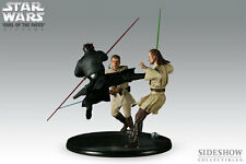 Sideshow Star Wars Diorama Duell of the Fates , Darth Maul VS  Obi Wan  &Qui Gon