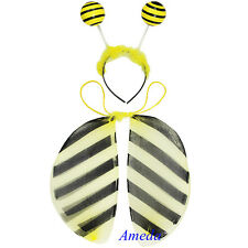 Baby Kids Girls Yellow Bee Wings Headband 2pcs Play Set Toys Dress Up Costume