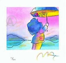 ON SALE NOW!!!!  Exciting Peter Max Hand Signed Umbrella Man Lithograph with COA