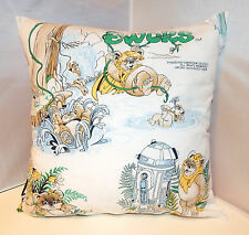 Vintage ewoks cartoon handmade coussin par geek boutique star wars