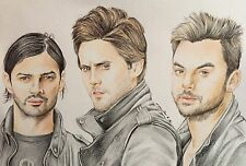 30 Seconds To Mars Original Drawing . Fan-art A4 Jared Leto