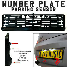 Rear Number Plate Parking Sensor Kit With 3 Sensors & Buzzer
