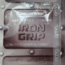 Caution Wear Iron Grip Snugger Fit Silicone Based Lubricated Condoms 100 PACK