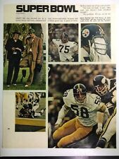Jack Lambert Steelers Super Bowl In Action Signed 8x10 Photo JSA Precertified