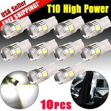 10 x White T10 Wedge High Power Projector Backup Light Reverse LED Bulbs 921 912