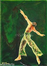 Original Abstract Acrylic Painting of Ballet Dancer 201412-016 2000-Now Artist
