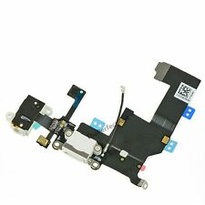 OEM White Headphone Audio Charger Charging Data USB Port Flex Cable iPhone 5 5G