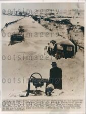 1965 Snow Blocked Redcar to Guisborough Road Yorkshire England Press Photo