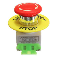 660V10A Red Sign Emergency Stop Switch Push Button Mushroom Cap 4 Screw Terminal