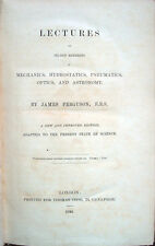 1843 FERGUSON, LECTURES ON SELECT SUBJECTS – FISICA ASTRONOMIA PHYSIC ASTRONOMY