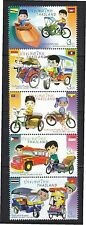 THAILAND 2015 CHILDREN'S DAY (ASEAN LOCAL TRANSPORT) STRIP OF 5 STAMPS MINT MNH