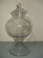 Elegant! Tall Glass Globe Footed Apothecary Jar Wedding!
