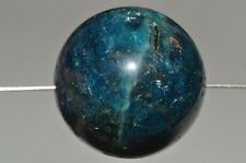 18mm Mysterious~Natural NEON BLUE APATITE Large Round Bead B1080