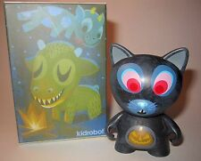 Dunny 3-Inch Amanda Visell Ferals Black Scaredy Cat Kidrobot Vinyl Art Figure