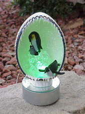 REAL Ostrich/Rhea Egg Lighted Winter Collectible Gift Arctic Kingdom Penguins