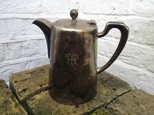 Antique Art Deco Vintage Silver Plate Teapot Jug With Engraving Of Two letters