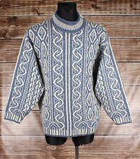 Devold by Olmes Carretti Crew Neck Men Wool Sweater Size L, Genuine