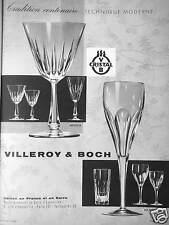 PUBLICITÉ VERRE VILLEROY & BOCH CRISTAL TRADITION CENTENAIRE TECHNIQUE MODERNE