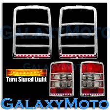 08-13 JEEP LIBERTY Chrome Taillight Trim+Brake+Turn Signal Function LED Cover