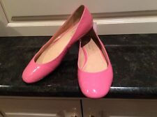 Talbots Hibiscus Pink Patent Leather 'Lesley' Ballet Flats Size 8. Nice!