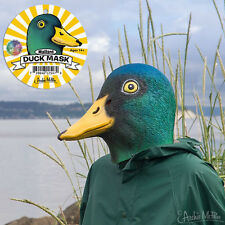 Mallard Duck Mask Deluxe Full Face Head Bird Latex Rubber Animal Costume